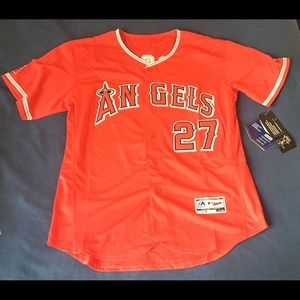Los Angeles Angels #27 Mike Trout New Red Jersey